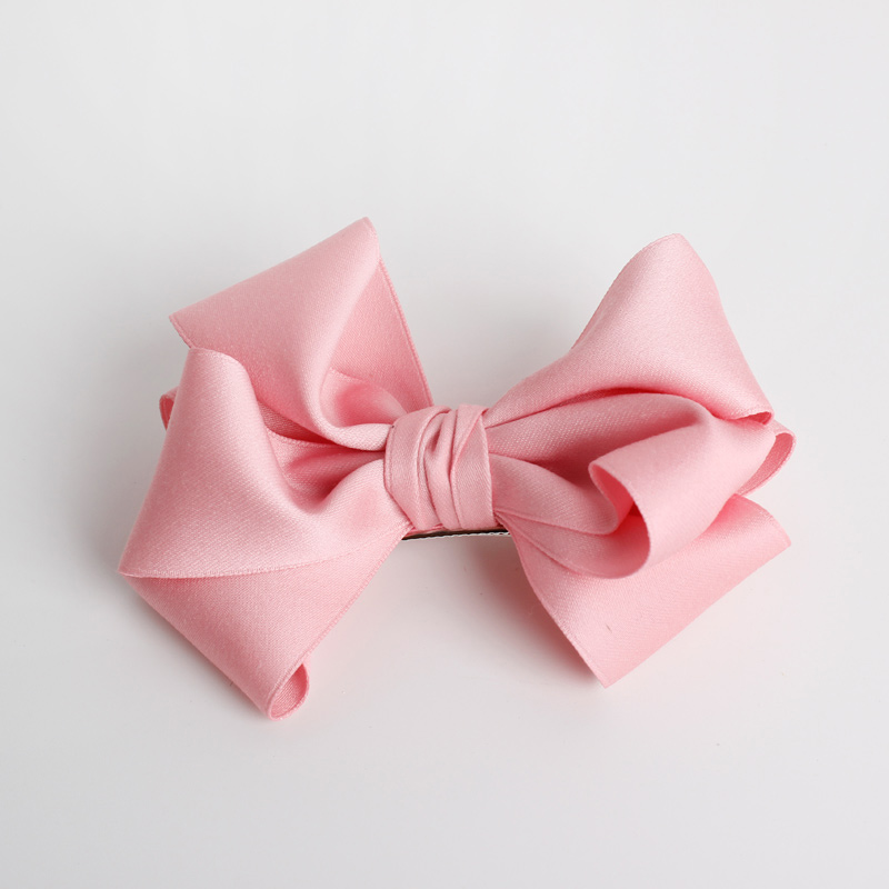 #MD61102 2017 Winter New Color Baby Girls Silky Ribbon Bows With Clip Women Girls Boutique Hair Clip Kids Hair Accessories