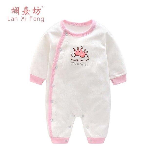 4d826534c083 2018 Newbron Clothing Pyjamas Newborn Infant Baby Rompers Long ...