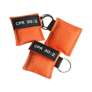 Image 3 - 100 шт. CPR маска для реанимации односторонний клапан жизненный ключ тренировочная карманная маска для защиты лица инструмент для ухода за здоровьем оранжевый