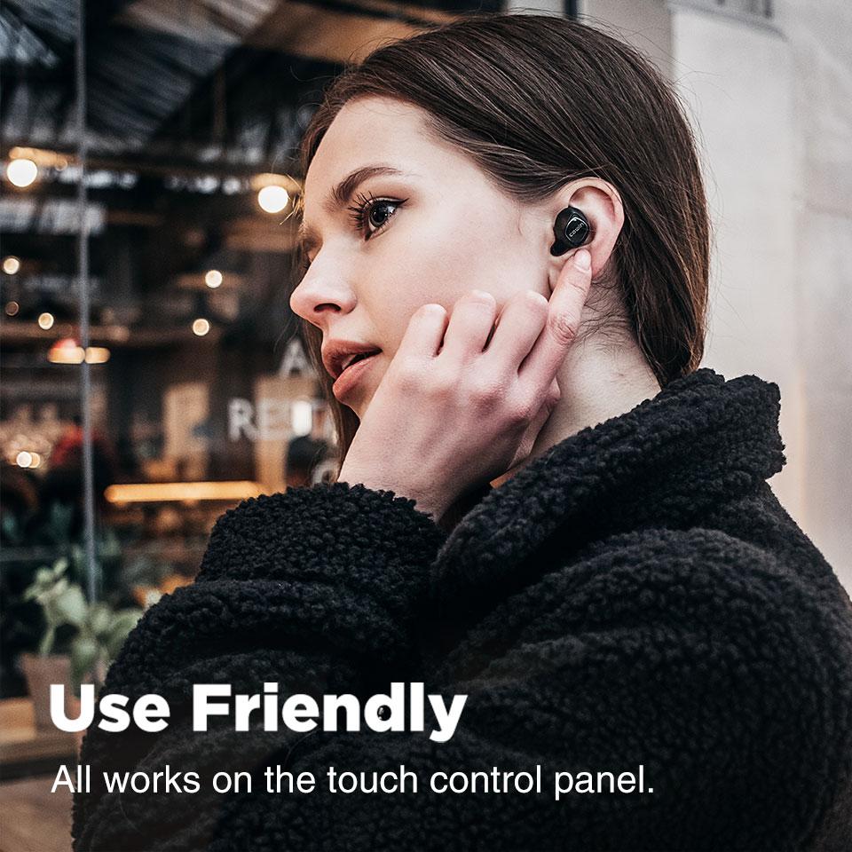 Cowin KY-02 Bluetooth 5.0 Earphone TWS Headphone Nirkabel Sejati Blutooth HD Stereo Earphone Olahraga Earbud Gaming Headset Telepon