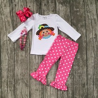 Girls Fall And Winter Boutique Outfits Girls Boutique Outfits Girls White Top With Hot Pink Pants