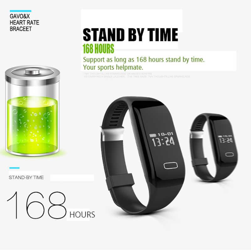 Mocrux Pintar Gelang Gelang H3 Smartband IP68 Tahan Air Jantung Kecepatan Monitor Kebugaran/Aktivitas Pelacak Pintar Jam Tangan Panggilan Alarm