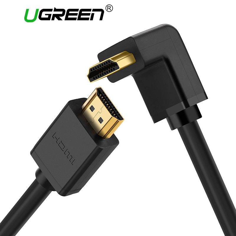 Ugreen HDMI Cable 270/90 Degree Angle HDMI to HDMI Cable 5m 1.5m 2m 3m HDMI 2.0 Cable 4K 3D for TV PS3 Projector Computer Cable gold plated nylon braided hdmi cable hdmi 2 0 4k x 2k ethernet support video 4k 2160p hd 1080p 3d 1 5m 3m 5m 10m 15m 20m