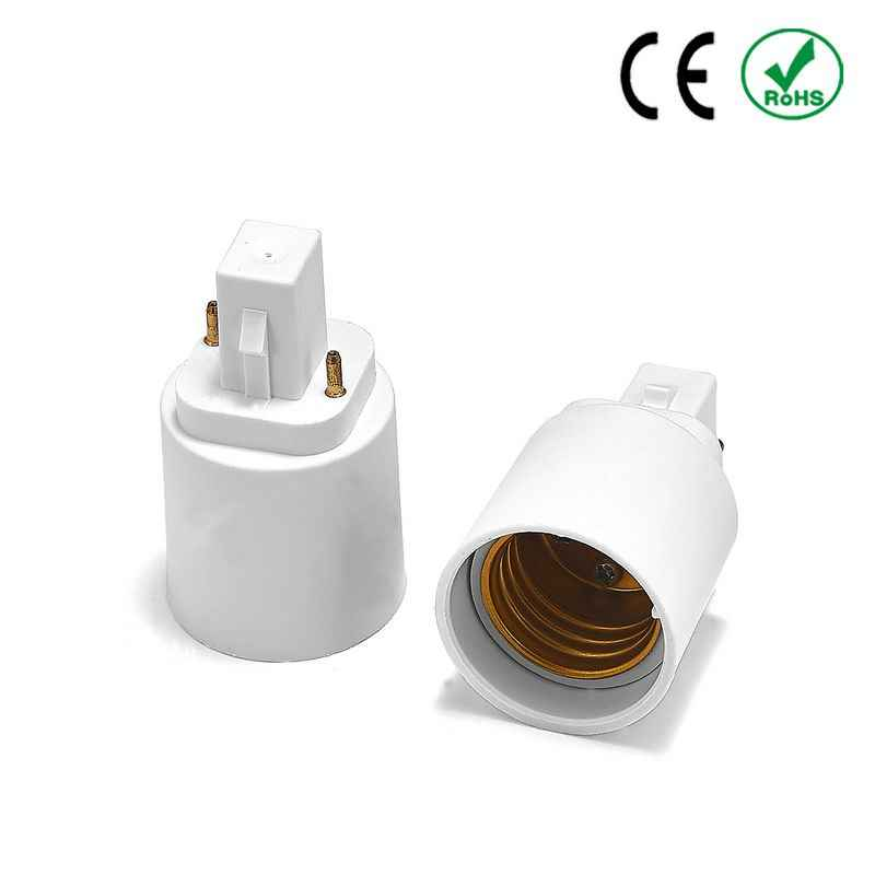 G24 to E27 Adapter G24 to E26 Lamp Holder Power Adapter Converter Base Socket LED Light Bulb Extend Extension Plug