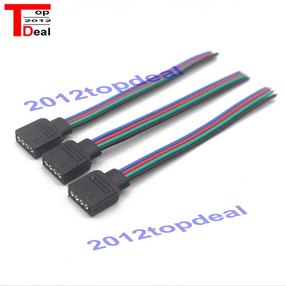 RGB 4pin złącze do taśmy LED RGB 5 sztuk/partia