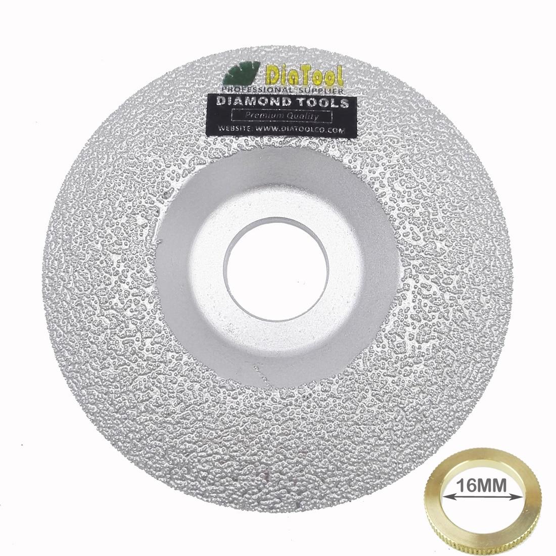 "Купить с кэшбэком DIATOOL Vacuum Brazed Diamond Grinding Cup Wheel Diameter 4"" 4.5"" 5""  available for all Stone and Construction Material"