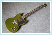 Новое поступление из металла зеленый отделка Тони lommi SG Электрогитары хром Floyd Rose тремоло для продажи