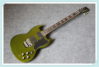 New Arrival Metal Green Finish Tony Lommi SG Electric Guitar Chrome Floyd Rose Tremolo For Sale