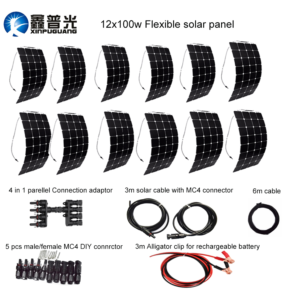 direct selling 1000w 12v solar diy kit system 100w