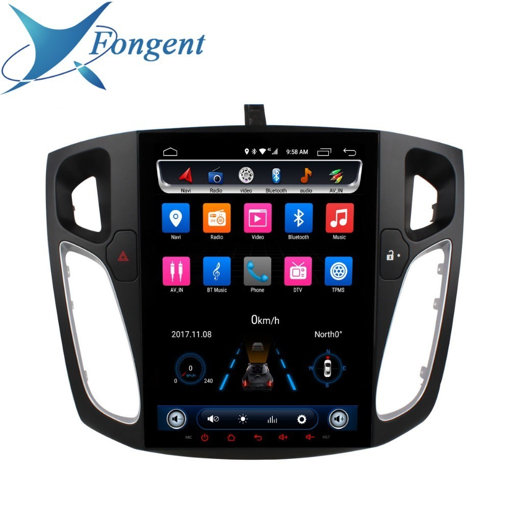 Para Ford Focus 2012 2013 2014 2015 Car DVD Multimedia Player Estéreo Rádio Navegador GPS Inteligente Veículo Android Computador PC