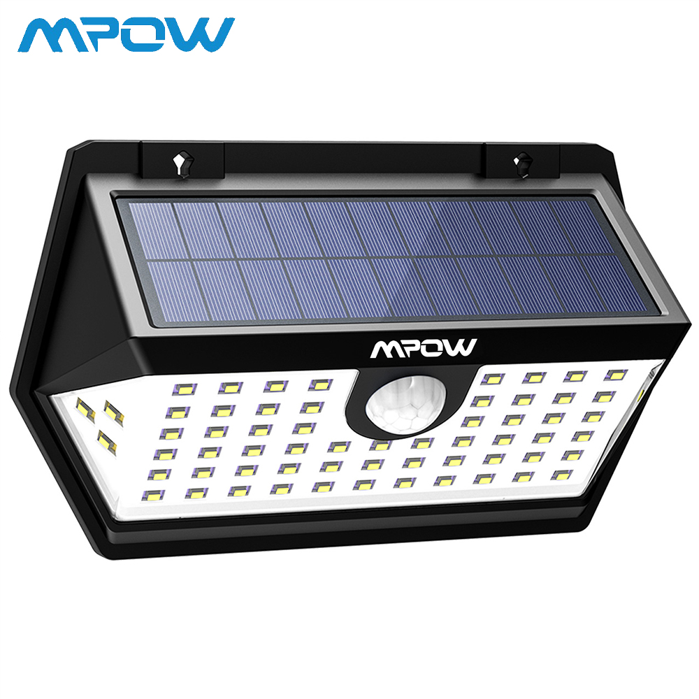 Mpow 63 LEDs Solar Wall Light Brighter And Durable Lamp CD183 Motion Sensor Lamp IP65 Waterproof Lamp For Yard Pathway Garden