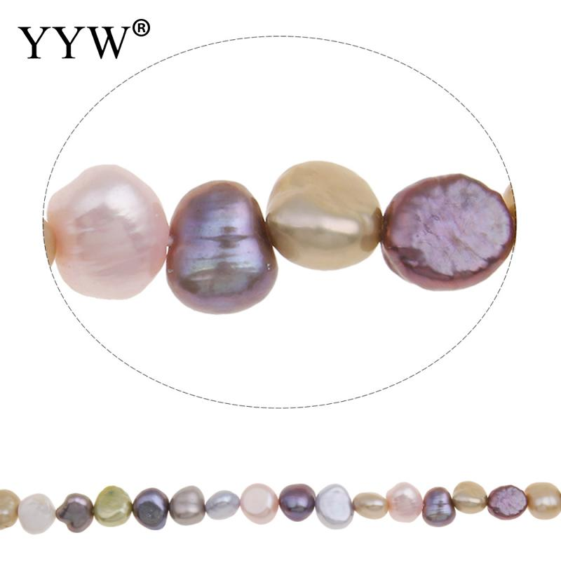 Finding Beads DIY for Necklace Bracelet Jewelry Making 6-7mm Potato Nuggets Colorful Mixed Natural Freshwater Pearl Loose Beads