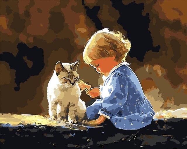 Gambar Untuk Dekorasi Anak Kecil Dan Nya Cat Minyak Lukisan Gambar