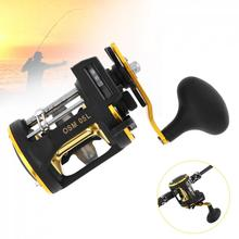 цена на Metal Drum Fishing Reel Max Drag 20kg Trolling Wheel Casting Spinning Boat Sea Reels with Counter