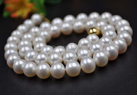 Fine 8 5 9mm White Cultured Freshwater Pearl Necklace Gold Clasp