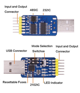 Image 4 - WitMotion USB UART 6 In 1 Converter, Multifunctional(USB TTL/RS485/232,TTL RS232/485,232 485)Serial Adapter, with CP2102 Module