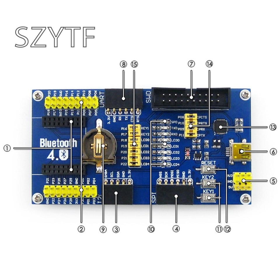 Image 4 - J34 Free Shipping NRF51822 BLE4.0 Bluetooth Evaluation Board 2.4G Wireless Communication Modulenrf51822 modulewireless modulebluetooth board -