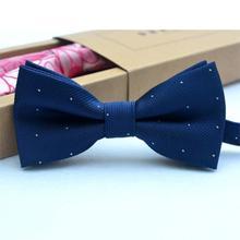 Детский галстук-бабочка, одежда для маленьких мальчиков, аксессуары, Однотонная рубашка джентльмена, галстук-бабочка в горошек