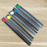 5 видов цветов x20pcs = 100 шт. 1206 SMD из светодиодов свет вышивка крестом пакет красный, белый зеленый синий желтый 1206 светодиодные комплект бесплатная доставка
