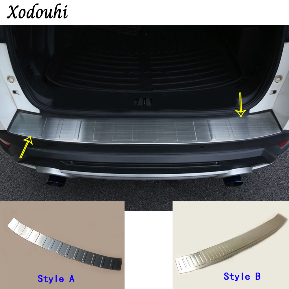 For Ford Kuga 2017 2018 2019 car cover Rear Bumper Trunk Threshold Door Sill Outer Protector Cover Trim Stainless Steel 1 1 stainless steel rear trunk sill rear bumper protector plate cover trim for mazda cx 5 cx5 2nd gen 2017 2018 accessories