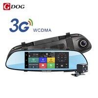 Android 5.0 Автомобильный видеорегистратор 7.0 IPS сенсорный экран беспроводной 3G камеры 3G WCDMA B1 (2100) двойной объектив камеры зеркало заднего вида