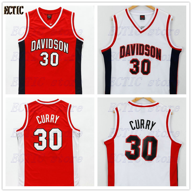 c21e597365e 2018 new arrival ECTIC brand  30 Stephen Curry Davidson Wildcats College  Basketball Jersey Stitched All Size S-XXL
