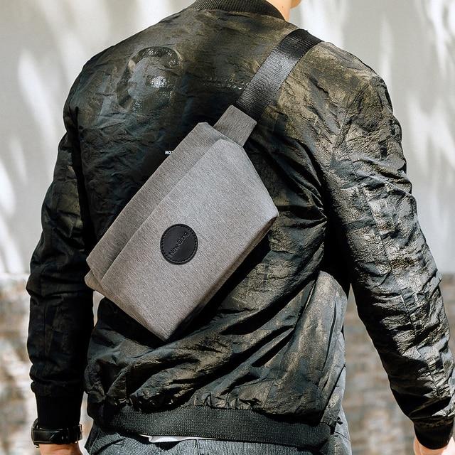 NewBring Summer Small Sling Bag Hip Waist Packs Shoulder Bum Belt Bags For Men Fanny Bag Waterproof Phone Money New Male Female