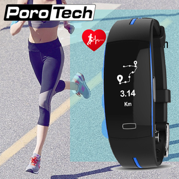P3 Electrode ECG blood pressure smart bracelet dynamic heart rate waterproof sport bracelet steps distance calorie monitor