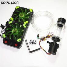 Computer PC CPU/graphics card/Amplifier/Speakers Water Cooling block water tank Adjustable speed pump fans radiator system Kits