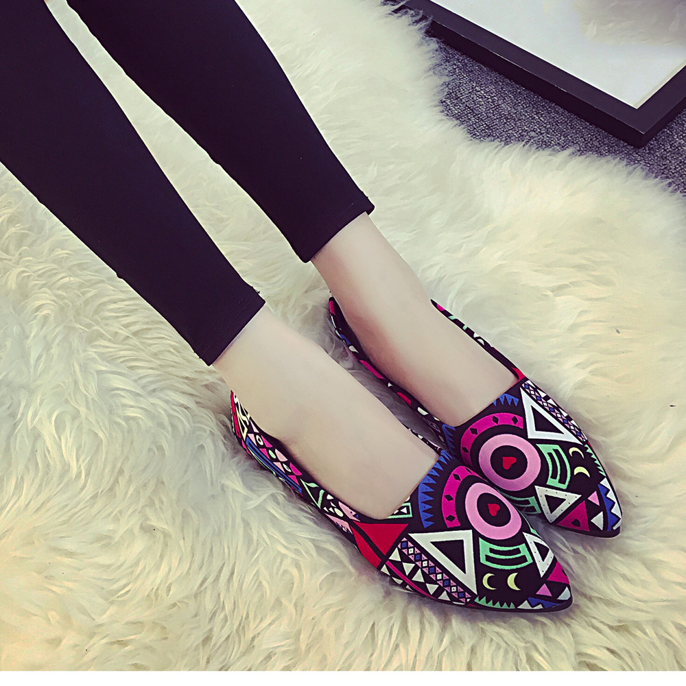 Fashion Women All Seasons Ballets Flats Shallow Single Shoes Colors Comfortable Loafers Lady Boat Shoes Large Sizes #N(China)