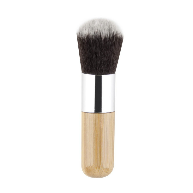 Fashion BAMBOO Flat Top Makeup Brushes beauty Make Up Cosmetic Set Tools multi use brush Super soft and dense bristles top sale-in Eye Shadow Applicator ...