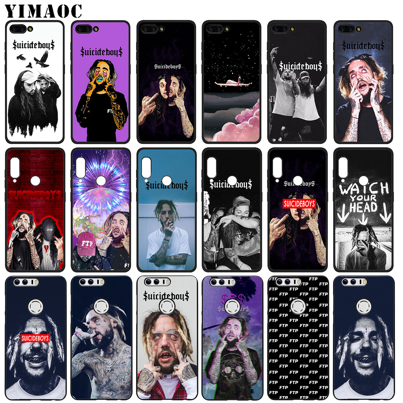 YIMAOC FTP $uicideboy$ uicideboy Suicideboys Soft Case for Huawei Honor 20 Pro 8C 8X 8 9 9X 10 Lite 7X 7A Pro