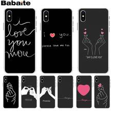 Babaite EXO kpop Heart Drawing Love on the finger silicone High Quality Phone Case for iPhone 8 7 6 6S Plus X XS max 5 5S SE XR(China)