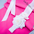 TOPQUEEN S171 flower bridal belts Rose wedding sash white ivory Free shipping Stock Fast shipping