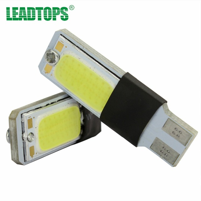 LEADTOPS 10X High Power T10 W5W LED COB 12V T10 COB Canbus Error Led car styling Motorcycle light  For VW Audi toyota ford BJ