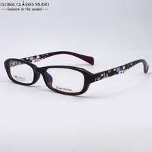 Lady s Purple Black Frame With Geometric Letter Design Pattern Temple TR90 Square Hinge Glasses Whole