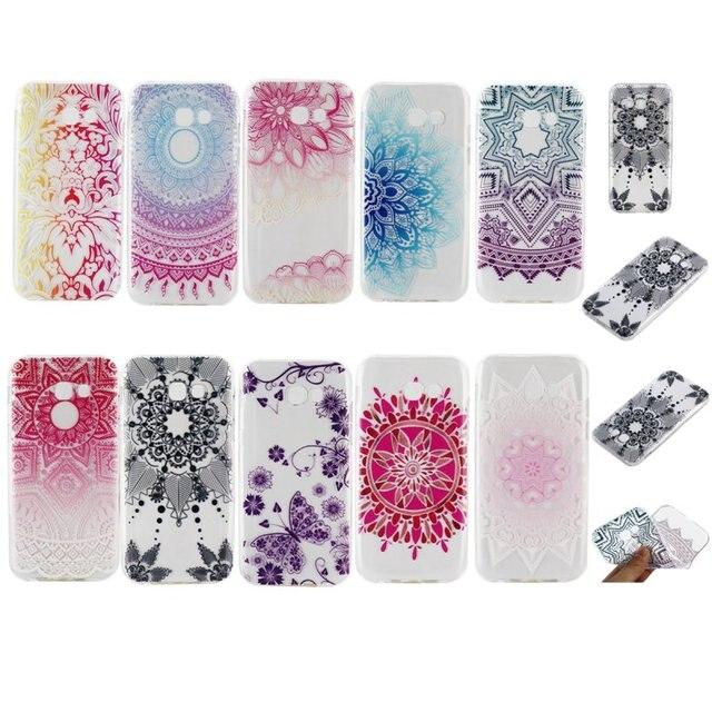 Floral Paisley Mandala Housse En Silicone Pour Samsung Galaxy A3 A5