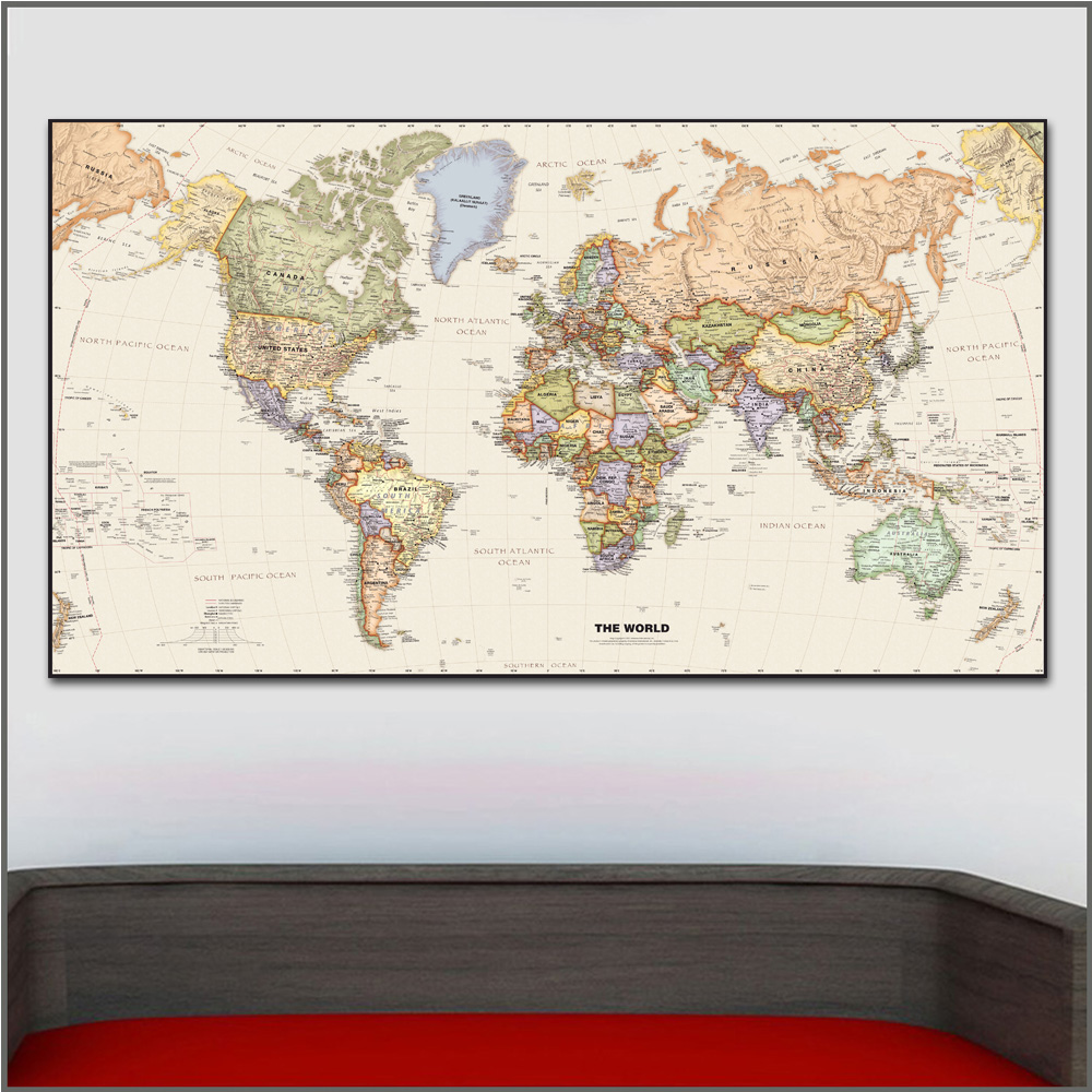 Large Size Printing Oil Painting Legacy World Chart Wall Art Canvas Print Pictures For Living Room And Bedroom No Frames