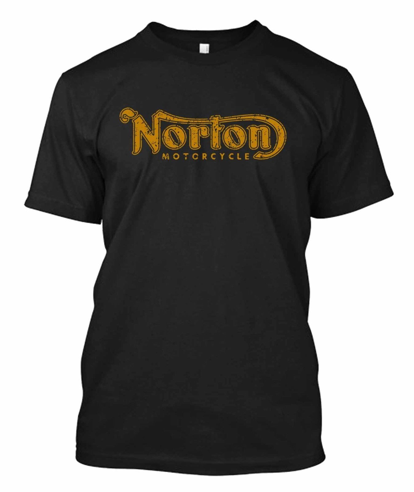 Vintage Norton - Custom Men's Black   T  -  Shirt   Tee Summer Men'S fashion Tee,Comfortable   t     shirt  ,Casual Short Sleeve TEE