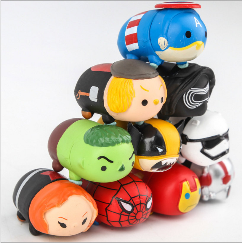 Hot sale Tsum Tsum sets Action Figures Avengers Spiderman 2017 tsum tsum Star wars darth vador vinyl doll toys Christmas Toys