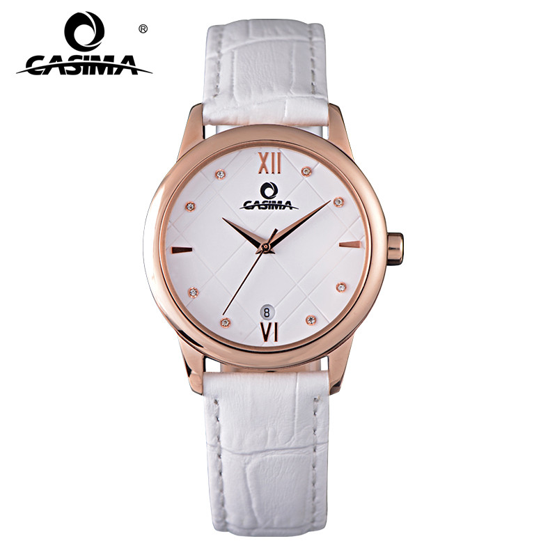 Luxury brand watches women fashion simple Crystal casual charm women's quartz wrist watch leather waterproof 50m CASIMA#2607 fashion luxury brand watches women elegent leisure gold crystal women s quartz wrist watch red leather waterproof casima 2603