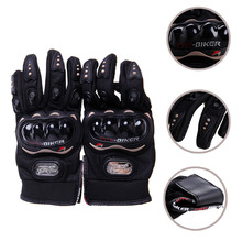 1 pair Touch Screen Full Finger Gloves For Motocross Racing Motorcycle Cycling Protective Protective Gears