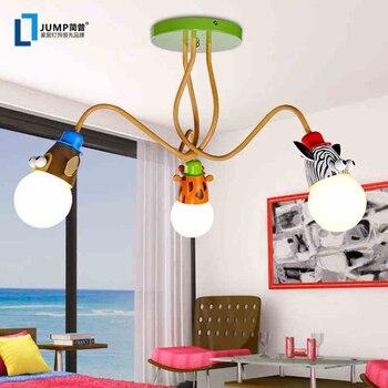 Jane & P nowoczesne minimalistyczne dzieci lampa lampka do sypialni LED lampa dla dzieci pokój cartoon lampa sufitowa