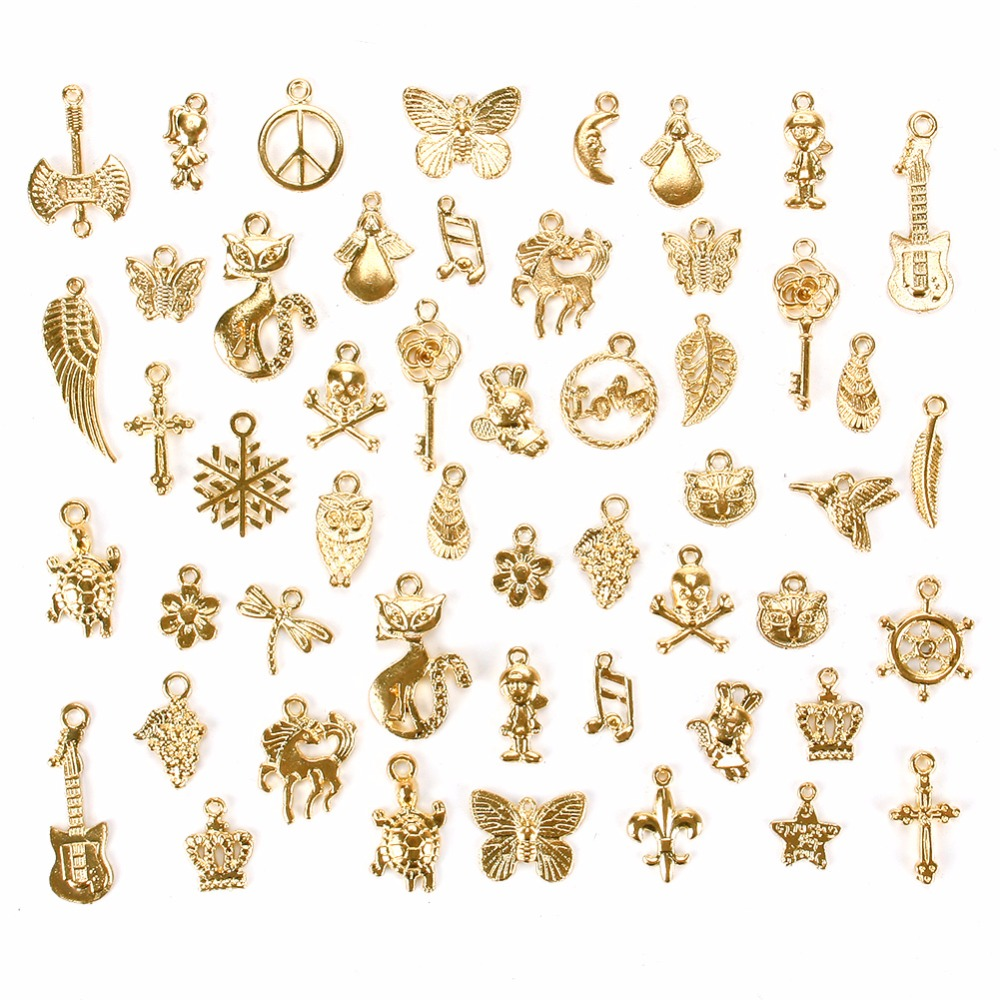 Janedream 50 Pcs/Set Gold/Silver/ Bronze Mixed Styles
