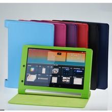 Litchi Caseสำหรับแท็บเล็ตโยคะLenovo 10 HD + 10.1 B8000 B8000 H/F B8080 B8080 f B8080 H B8080 Xแท็บเล็ตPUหนัง + ปากกา
