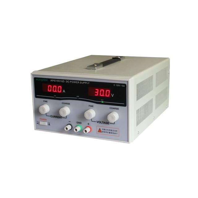 KPS10010D High Power Adjustable Switching DC power supply,0~100V 0~10A 110V/220V precision Digital DC Power supply US/EU/AU Plug