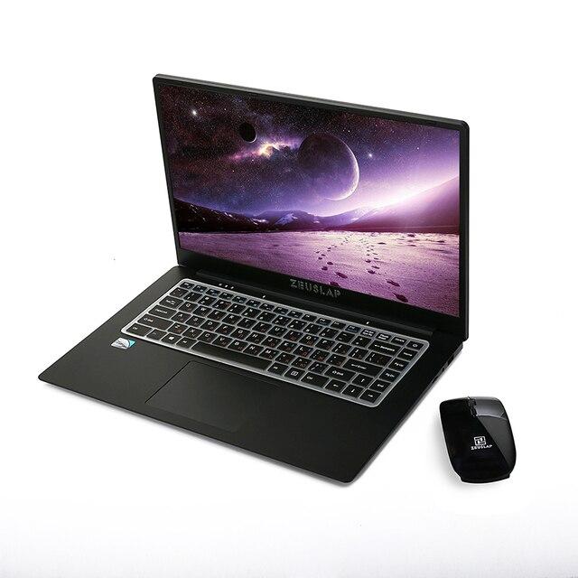 ZEUSLAP 15.6 אינץ 1920x1080 P FHD IPS Intel Quad Core 6 GB ddr3 64 gb 128 gb 256 gb 512 gb ssd Windows 10 Ultrabook מחברת מחשב נייד