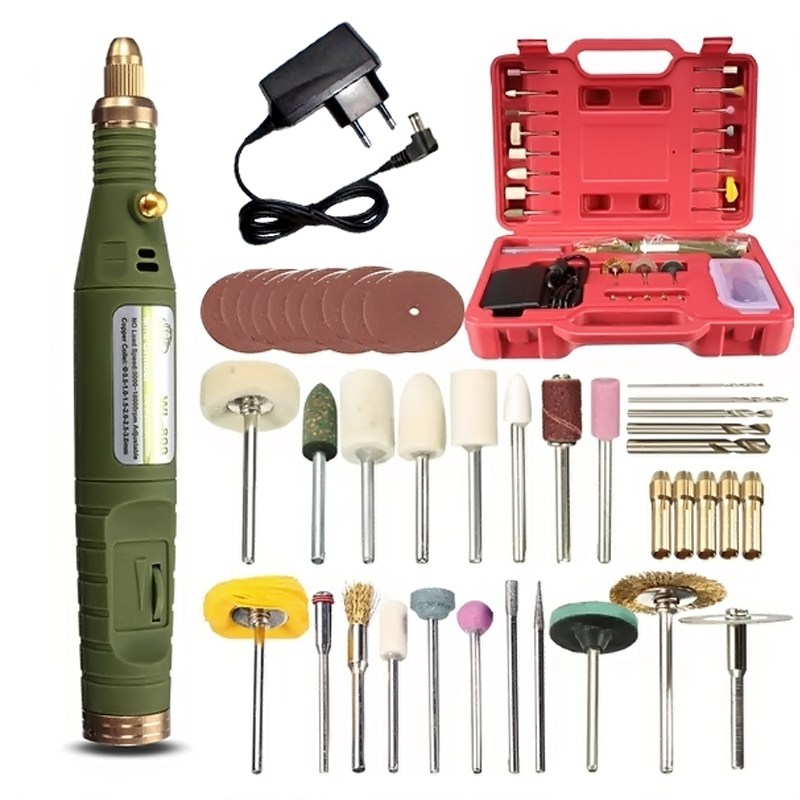Mini Electric Drill Tool Kit Rotary Power Tools Set Variable Speed Mini Drill 18V Cutting Carving Polishing Grinding Machine high quality 400w power tools multi function electric grinding machine variable speed polishing diycarving tools no accessories