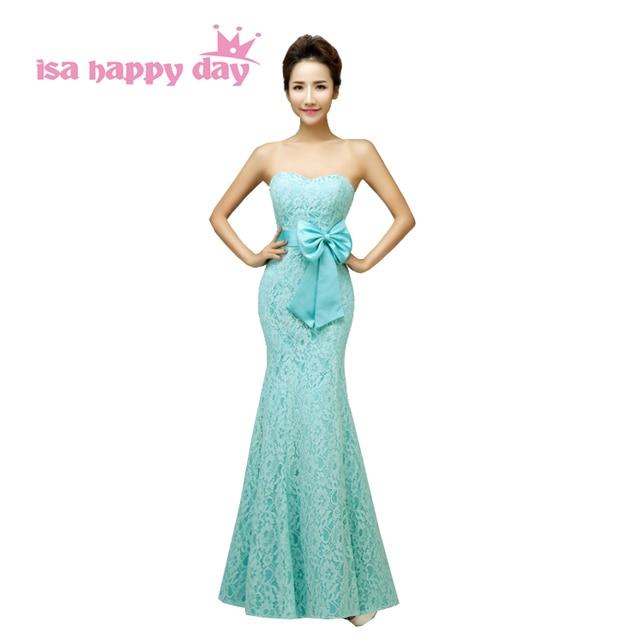 best website b186d aa56a US $39.71 5% di SCONTO|Nero sexy mint sirena abiti eleganti da sera con  l'arco per le ragazze delle donne di spettacolo abiti del vestito di stile  ...