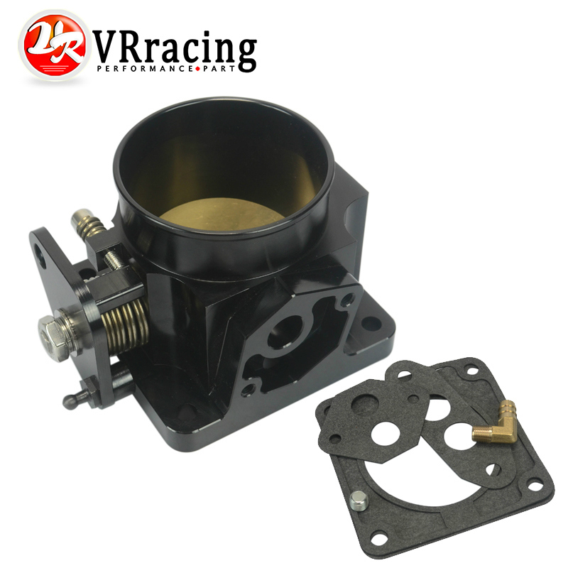 ФОТО VR RACING- BLACK 75MM BILLET CNC THROTTLE BODY FOR 86-93 FORD MUSTANG GT COBRA LX 5.0 VE6958BK